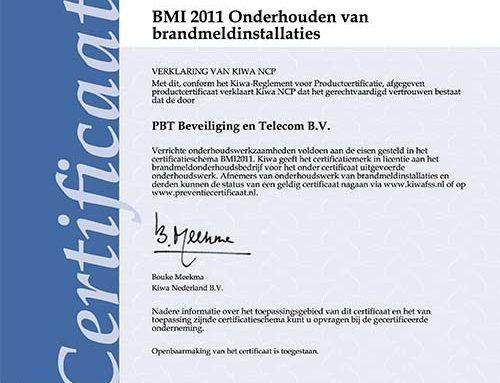 PBT geslaagd voor BMI- en Borg-keuringen